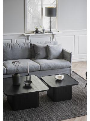 Rowico Sullivan Bijzettafel - L60 x B60 x H37 cm - Zwart