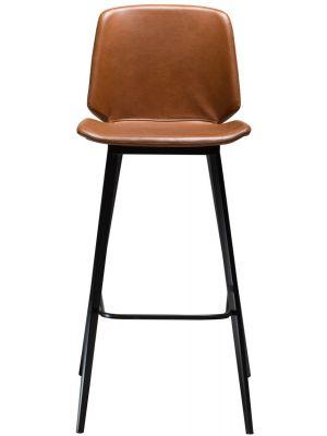 Dan-Form Swing Barkruk – Set van 2 - Zithoogte 75 cm – Cognac Kunstleer