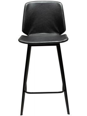 Dan-Form Swing Counter Barkruk – Set van 2 - Zithoogte 65 cm – Zwart Kunstleer