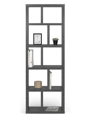 TemaHome Berlin Boekenkast 5 Levels - B70 x D34 x H198 cm - Beton Look