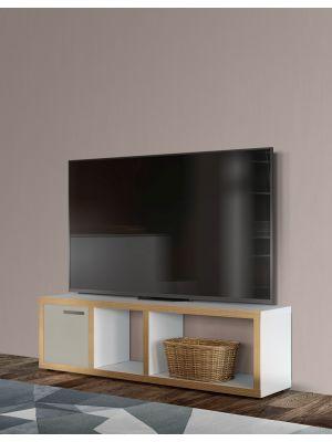 TemaHome Berlin Tv-Meubel - B150xD34xH45 cm - Mat Wit Multiplex