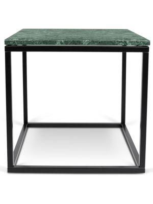 TemaHome Prairie Bijzettafel - L50 x B50 x H50 cm - Groen Marmer Tafelblad - Zwart Frame
