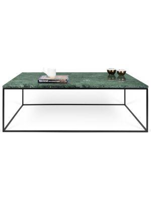 TemaHome Salontafel Gleam L120 x B75 x H40 cm - Groen Marmer - Zwart Metalen Onderstel
