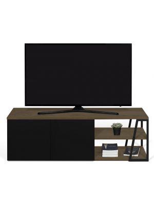 TemaHome Albi TV-Meubel 2-Deurs - B145xD45xH45 - Zwart Metaal - Walnoot