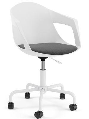 Tenzo Drop Office Bureaustoel – Set van 2 - Witte Kuipstoel met armleuningen
