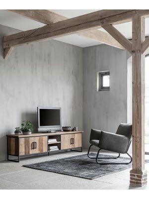 24Designs Timeless NO.2 Beam - TV Meubel - B220 x D40 x H55 cm - Teakhout