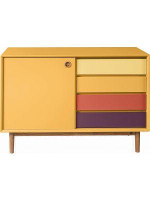 TOM TAILOR by Tenzo Color Box Dressoir 1-Deur/4-Laden - B114xD44xH80 cm - Mosterd
