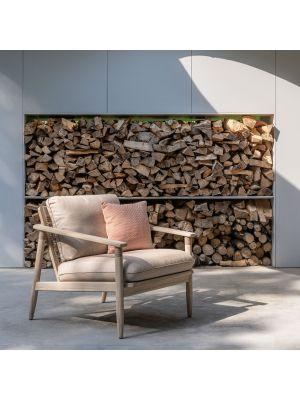 Vincent Sheppard David - Teak Lounge Chair - Inclusief kussenset
