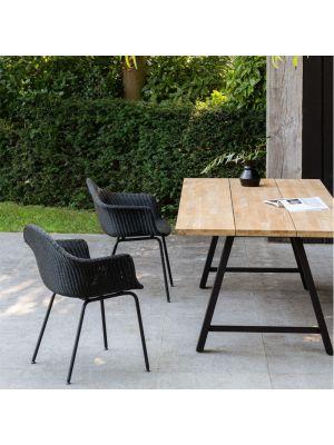 Vincent Sheppard Finn Dining Chair – Wicker Tuinstoel – Zwart