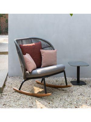 Vincent Sheppard Kodo Rocking Chair - Outdoor Schommelstoel - Carbon Beige Red Spice