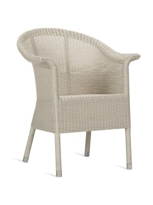 Vincent Sheppard Kenzo Dining Chair – Wicker Tuinstoel – Old Lace – Aluminium Frame