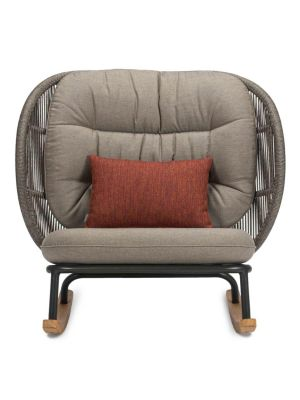 Vincent Sheppard Kodo Rocking Chair - Outdoor Schommelstoel - Carbon Beige - Quick Ship Set 2