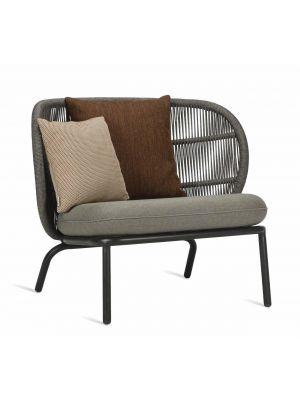 Vincent Sheppard Kodo Fauteuil - Outdoor Lounge Chair - Carbon Beige - Inclusief kussenset