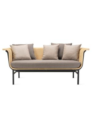 Vincent Sheppard Wicked 2 zits Outdoor Lounge Bank - Naturel Rotan - Lopi Cocunut
