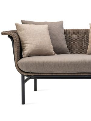 Vincent Sheppard - Wicked 2-Zits Outdoor Lounge Bank - Taupe Rotan - Lopi Cocunut