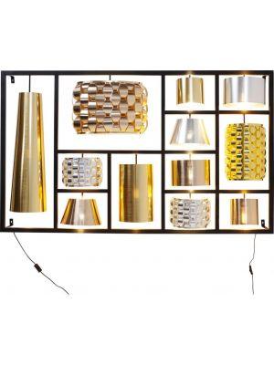 Kare Design - Wandlamp Parecchi Glamour XL - Zwart Frame