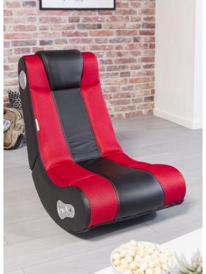 24Designs Max - Racestoel Gamestoel - Bluetooth & Speakers - Zwart / Rood