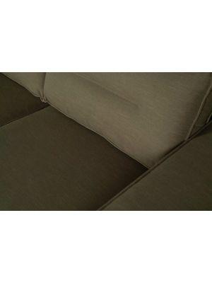 WOOOD Randy Chaise Longue Rechts - B295 x D95-177 x H81 cm - Groen Canvas