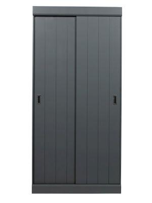 Woood Hit Schuifdeurkast 2-Deurs - B98 x D60 x H205 cm - Grenen - Steel Grey