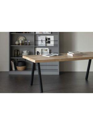WOOOD Tablo Eettafel - B200xD90xH75 cm - Mangohout met 2-Standen Poot