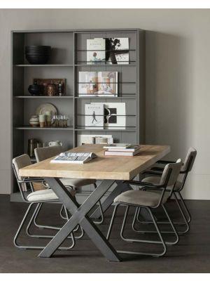 WOOOD Tablo Eettafel - B200xD90xH75 cm- Mangohout met Alkmaar Poot