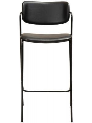 Dan-Form Zed Barkruk – Zithoogte 75 cm - Set van 2 - Zwart Kunstleer