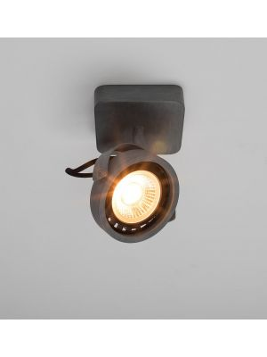 Zuiver Dice-1 Plafondspot - DTW Dim to Warm Dimbare LED - Gegalvaniseerd Grijs