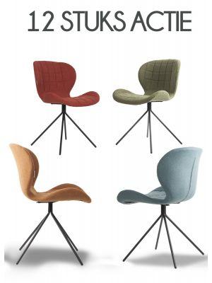 Zuiver Stoel OMG Stof - 12 stoelen Aanbieding - NU met Gratis vloerdoppen
