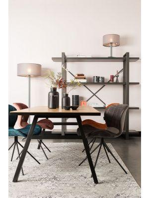 Zuiver OMG Velvet Stoel - Fluweel Grijs - Set van 2 stoelen