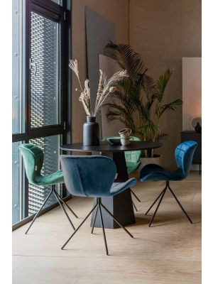 Zuiver OMG Velvet Stoel *Limited Edition* Fluweel Blauw - Set van 2 stoelen