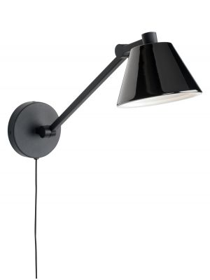 Zuiver Lub Wandlamp 1-Lichts - LED - 14x48x17 - Zwart Metaal