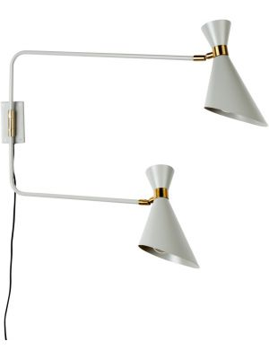 Zuiver Wandlamp Shady Double 2-Lichts B14.5 x H16.5 cm - Grijs