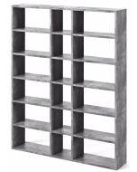 TemaHome Boekenkast Pombal Comp 2010-018 - B182 x D34 x H224 cm - Grijs Betonlook