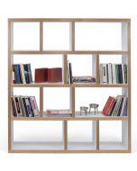 TemaHome Boekenkast Berlin 4 Levels - B150 x D34 x H159 cm - Mat Wit Multiplex