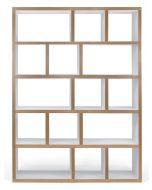 TemaHome Boekenkast Berlin 5 Levels - B150 x D34 x H198 cm - Mat Wit Multiplex