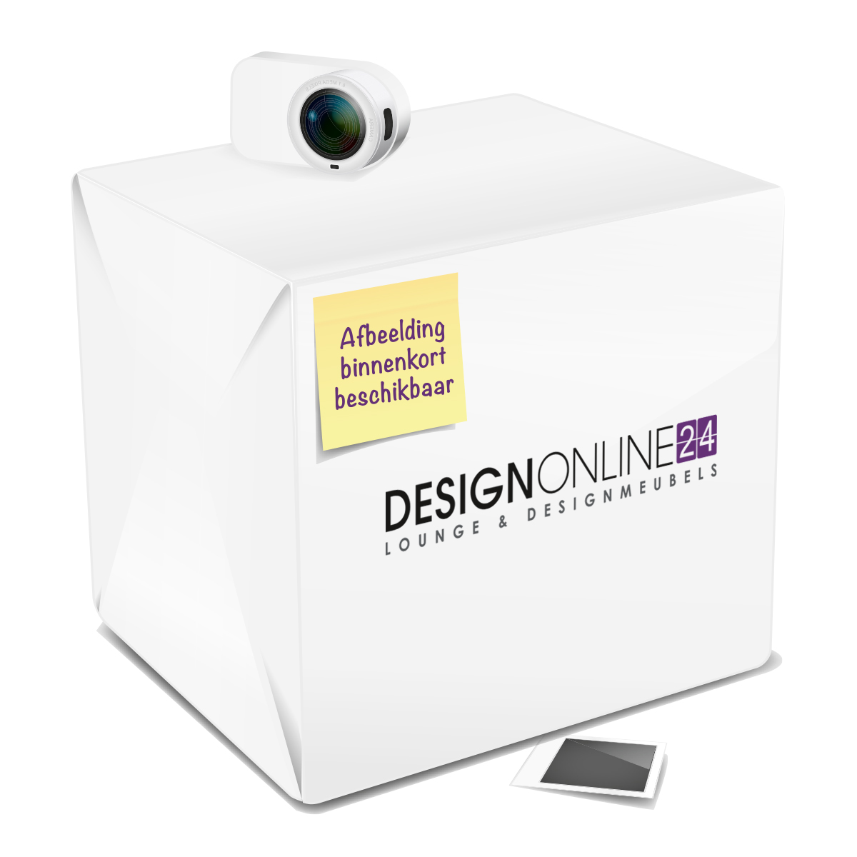 24Designs 24Designs Set (4) Tuinstoelen Box - Wit