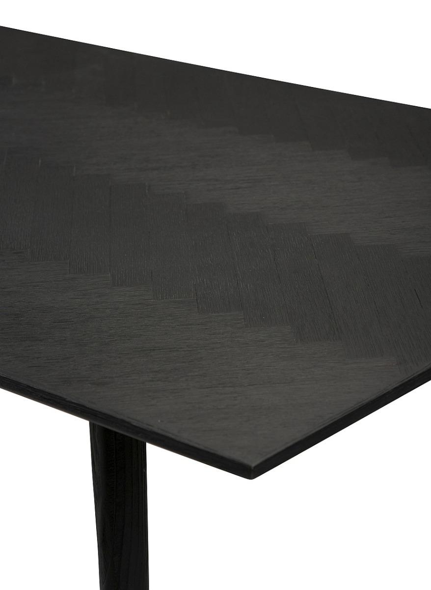 Dan-Form Bone Tafel 220x100x75 - Zwart Gebeitst Essenhout