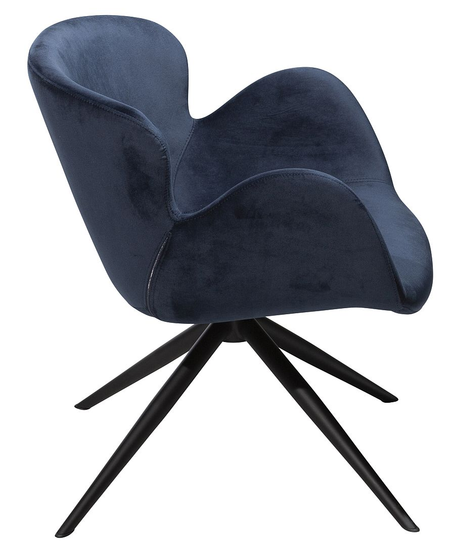 Dan-Form Gaia Loungefauteuil - Blauw Fluweel