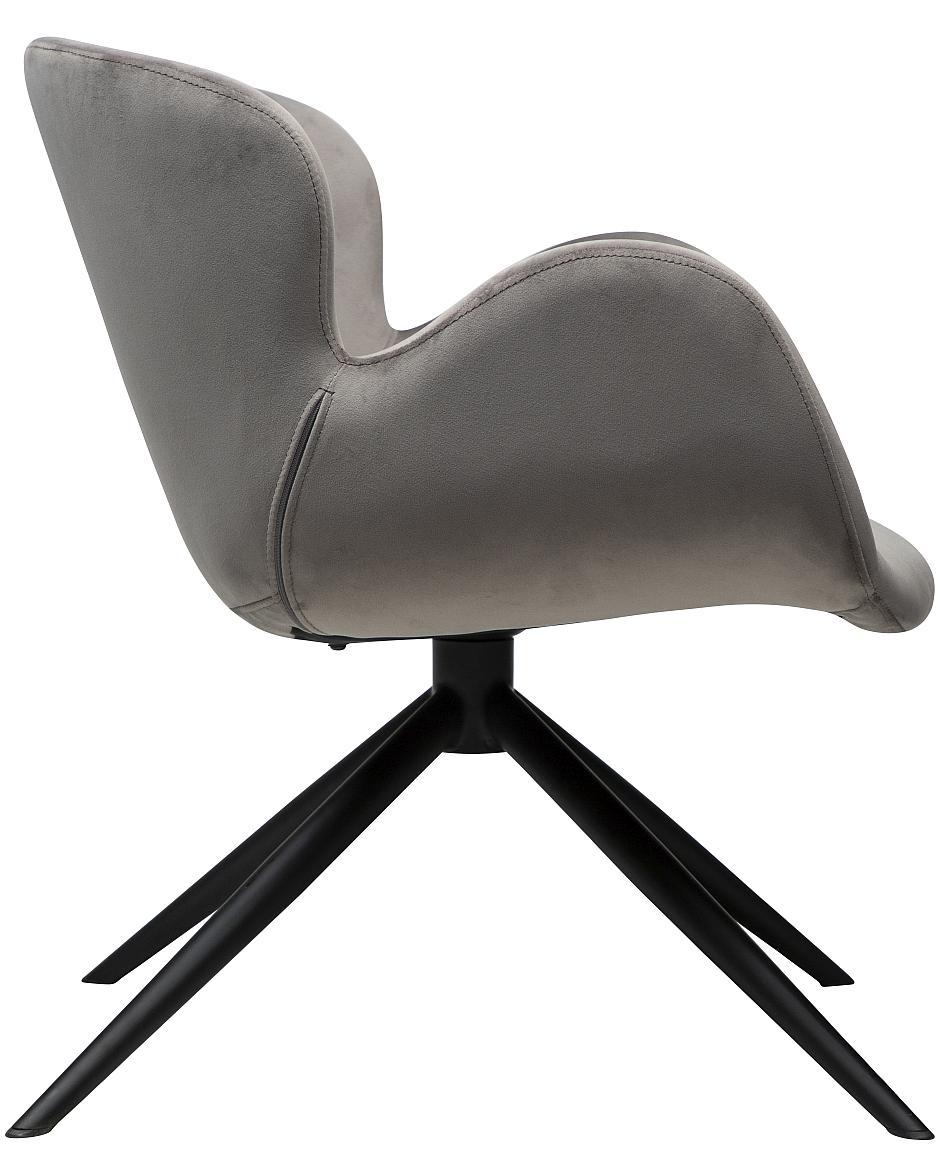 Dan-Form Gaia Loungefauteuil - Grijs Fluweel