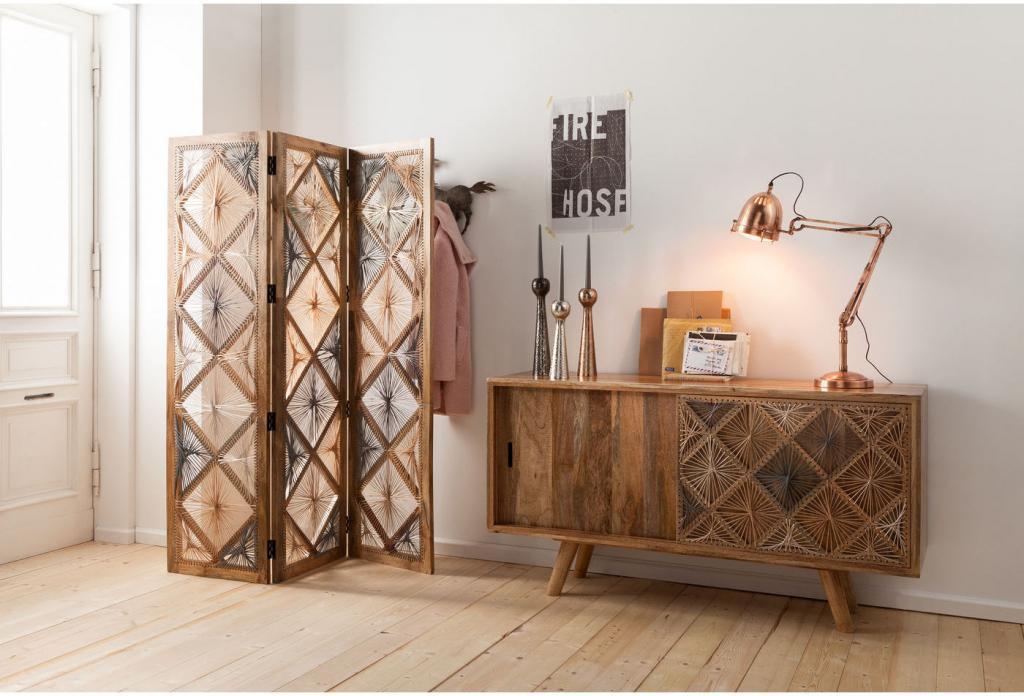 Kare Design Dressoir Coachella Nature - Hout - 160 X 85 X 45 Cm