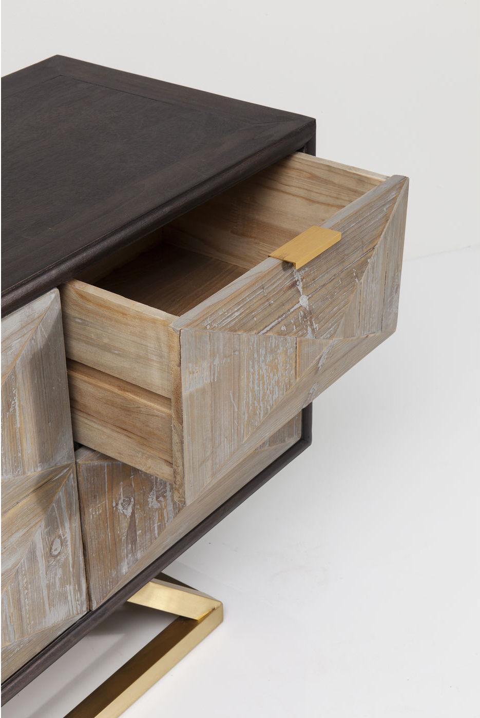 Kare Design Dressoir Triangolo - Hout - RVS