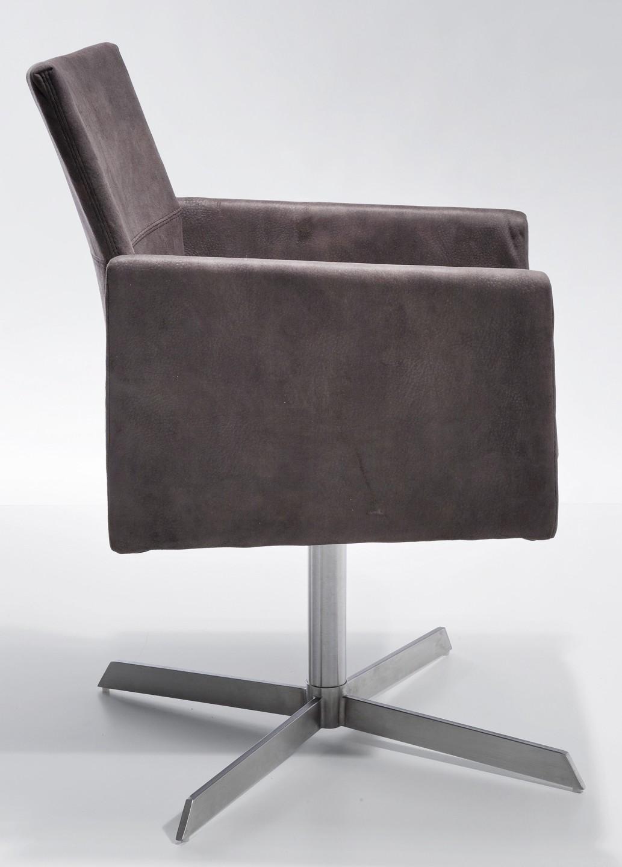 Kare Design Eetkamer Fauteuil Dialog - Bruin