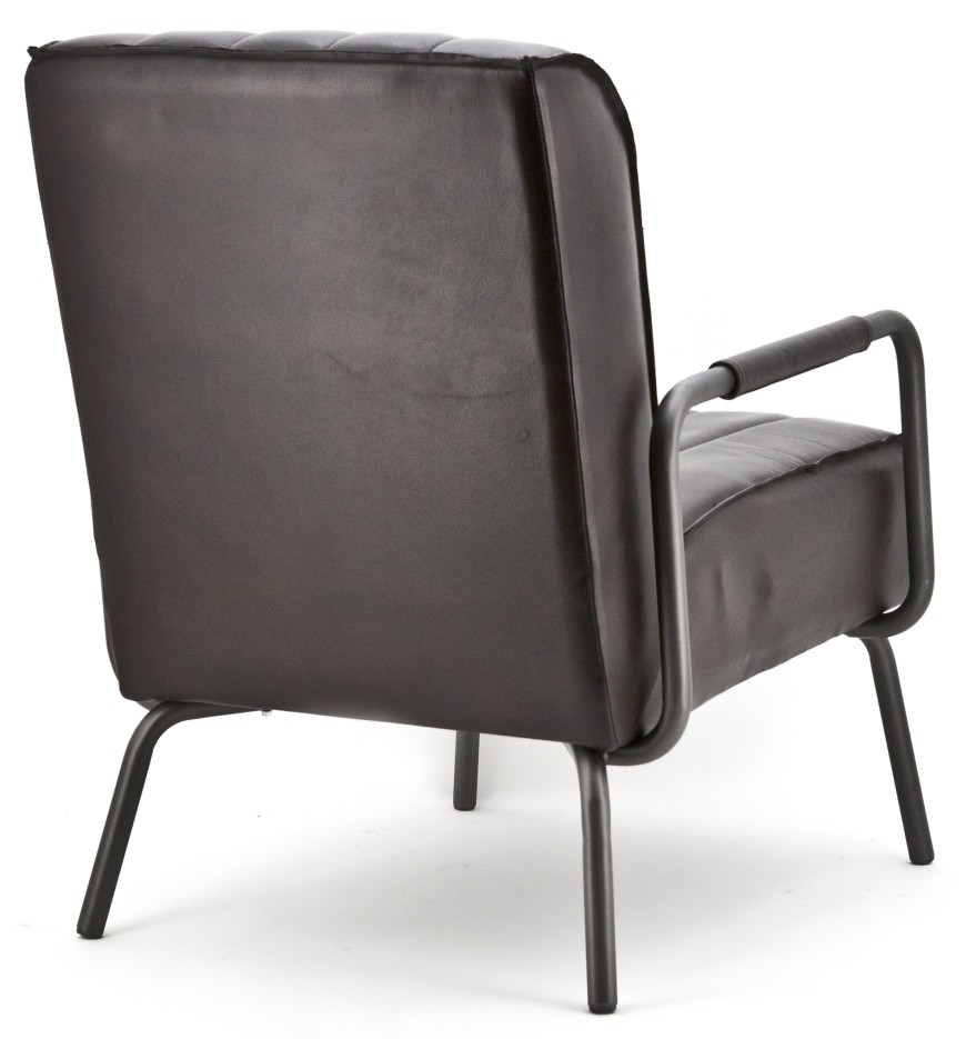 Eleonora SALE - Fauteuil Marvin - Rosi Leder Donkerbruin