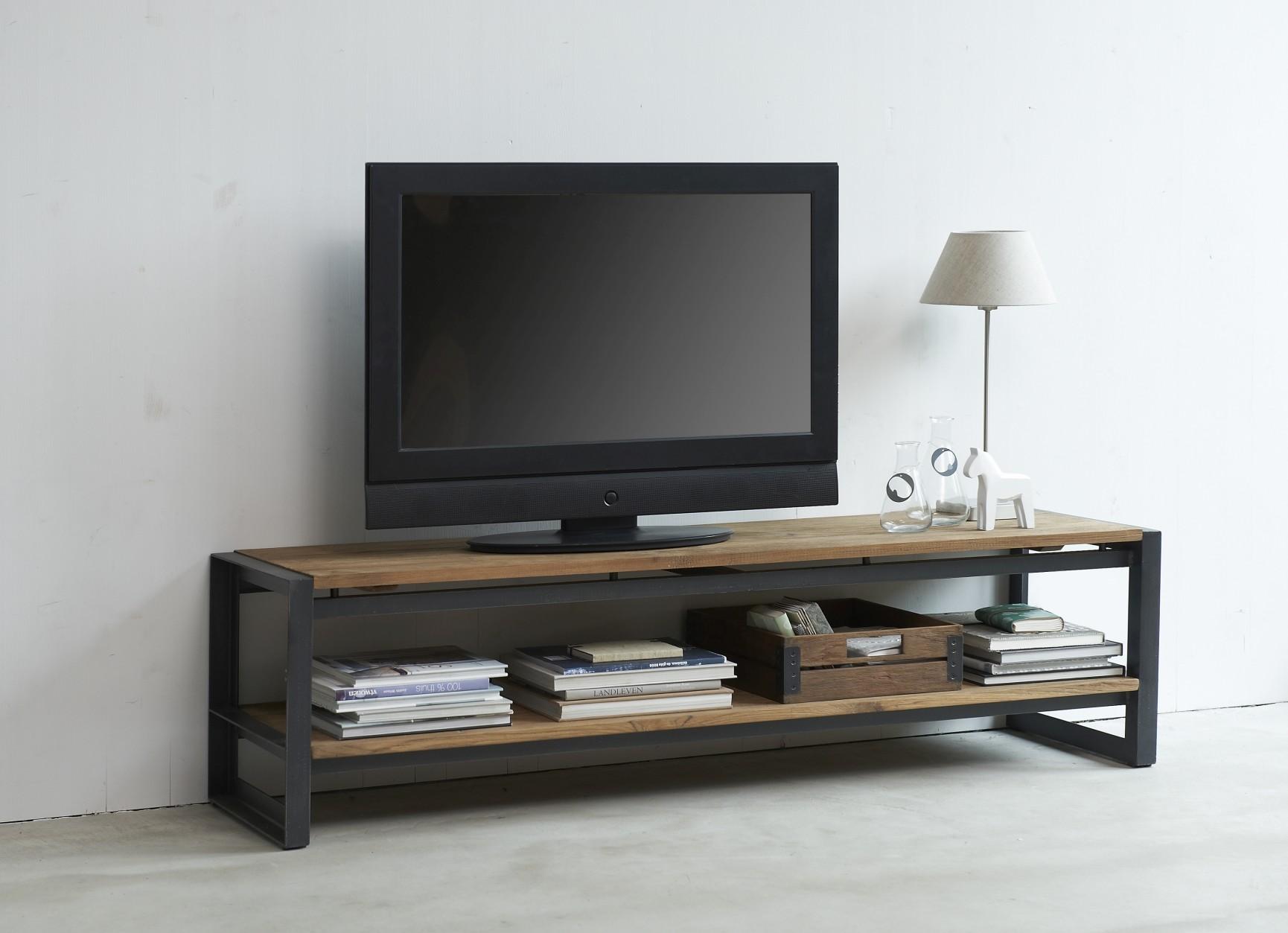 D-Bodhi Fendy TV Meubel - L180 X B40 X H40 Cm - Laag - Teakhout