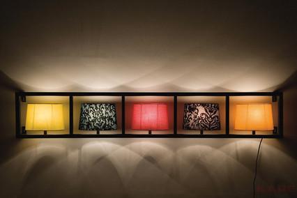 Kare Design Wandlamp Parecchi Horizontal Black 5-Lichts B173 X H30 Cm - Multikleur