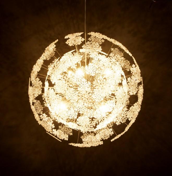 24Designs Hanglamp Snow Crystal - Wit