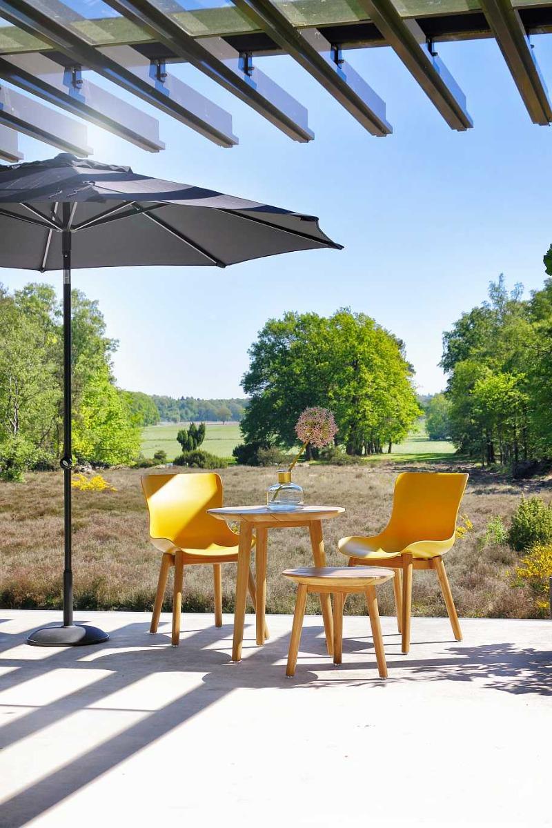 Hartman Sophie Teak Dining Tuinstoel - Set Van 2 - Curry Yellow NU Met Gratis Zitkussens Twv.? 25,00