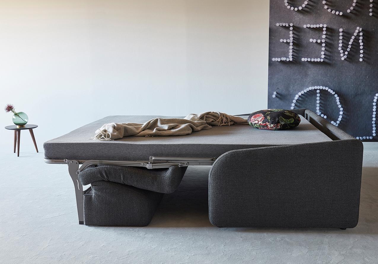 Innovation Slaapbank Eivor 140 - Stof Kenya Dark Grey 577