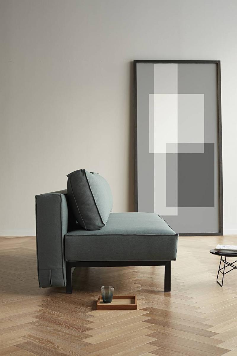 Innovation Slaapbank Sly - Elegance Green 518 - Mat Zwart Onderstel