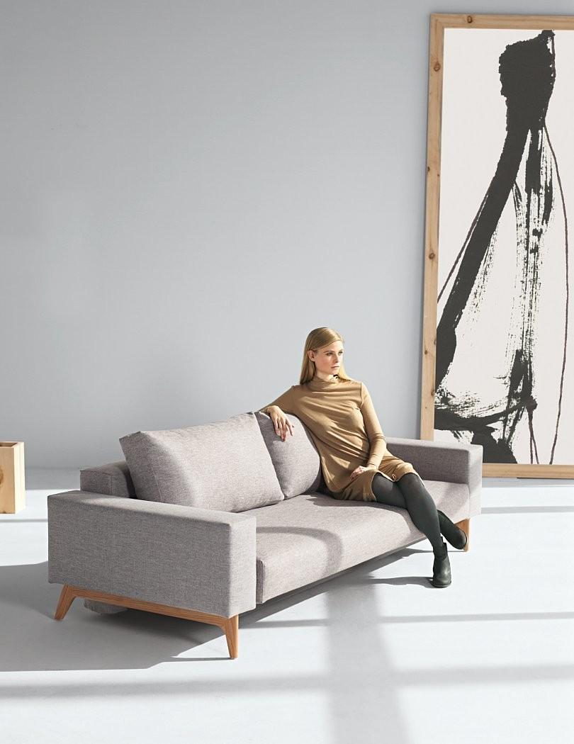 Innovation Slaapbank Idun Armleuningen - Mixed Dance 521 Grijs